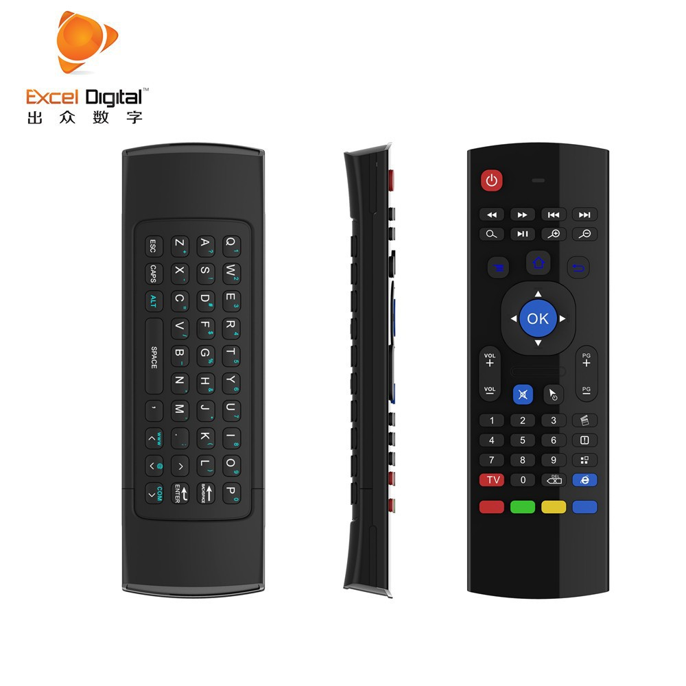Smart Voice Air Mouse Double Keyboard Remote Control With Qwerty Gyroscope For Tv Fly Bluetooth