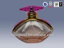 lx903 perfume botella de vidrio con tapa de la bomba y