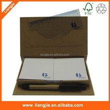 with PP ruler and pen craft paper box ECO note pad set