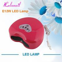 LED-E12W Yiwu Liancai UV gel polish dryer Retail for Nail Salon Cheap Dryer LED Timer Nail Art LED Lamp