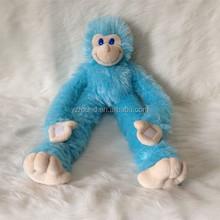Light blue naughty plush monkey stuffed toy