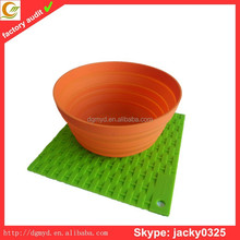 factory price high quality soft pvc coaster silicon table mat