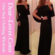 2015 yeni moda seksi uzun kollu abiye anne gelin elbise