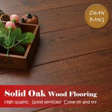 Solid prefinished oak hardwood flooring/ smoked wood European white oak brown wood flooring prices/hand scraped floors