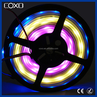 new design RGB5050 DC5V inner IC 2812B LED Digital strip