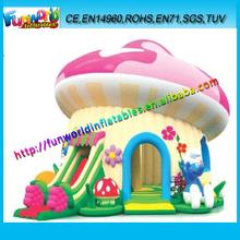 EN14960 High Quality Inflatable Mushroom Slide Combo, Mushroom Moonwalk Inflatable For Sale