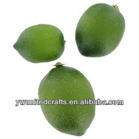 Green mini lemon 3 size artificial fruit wholesale
