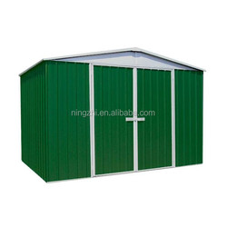 Prefab Metal Shed / Garden Steel Shed Kitset / Gable Roof small house for tools