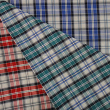 Hot sell polyester cotton fabric yarn dyed plaid shirting fabric