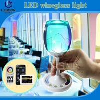 Langma touch control battery backup multi color led light bulb with remote controller