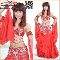 Wholesale Lover Bird Afghan Indian belly stage dance costumes prices,belly dance arabic sexy dance long skirt