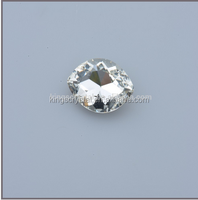 Chandelier crystal stones, Crystal point back Navette fancy stone,9X18mm crystal stone for dresses