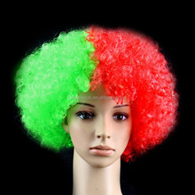 2015 Hot sale cheap synthetic hair 120g Portugal flag short wigs for men