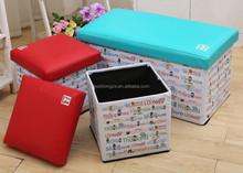 stool storage box,stool seat box, folded storage stool , fabric folded stool storage box