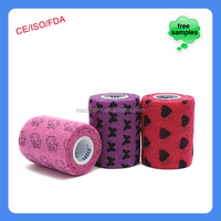 printed vet wrap nonwoven cohesive butterfly bandage