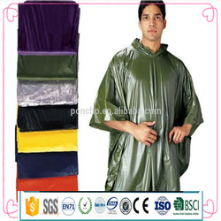 Cheap PVC Rain Poncho/Polyester,pvc color film Material and Raincoats Type pvc poncho