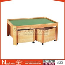 Cubby Plan PT-005 Hot Sale Children Wooden Furniture Wooden Kids Play Table