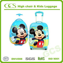 Children Favorite Travel Cartoon 16' and 18' Hard Suitcase Bag, Plastic Kids Carry on Luggage with Trolley