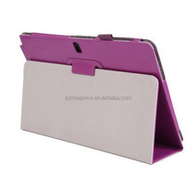 tablet leather folder cover case with pen slot for Samsung Galaxy Note Pro P900