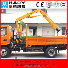 hydraulic knuckle truck crane 2ton with folded booms for sale
