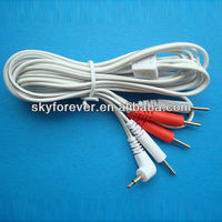 high quality durable copper medical cable for tens unit,conductive electrode wire,medical accessories