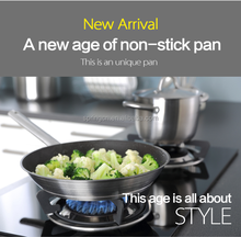 SGS LFGB, FDA, morden high quality healthy non-stick fry flat pan for induction cooker with 5 layers