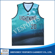 Fully polyester sublimation custom cheap basketball wear