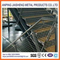 Knitted Stainless Steel Cable Net For Stair Decoration