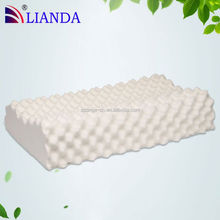 Ventilating Bamboo Fabric White Latex Pillow, Low Head Pressure Bed Pillow, Cervical Spondylosis Cure Massage Pillow