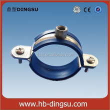 M8-10 NUT PIPE CLAMP WITH EPDM RUBBER FIXED HANGER BOLT&PLUG
