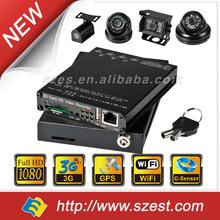 Bus CCTV System MDVR for Bus, Taxi, Police Car, Truck G-Sensor GPS WIFI 3G 4CH 1080P HD 4CH DVR System