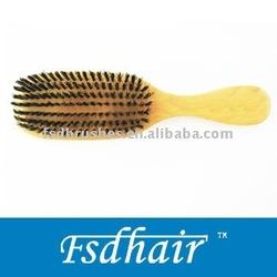Mixed bristles hair brush