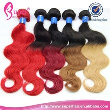 22 24 26 28 30 inches 5a body wave ombre color hair,100% brazilian human hair dropshipping