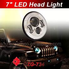 factory pricing sealed beam motorcycle 7 inch round headlamp for automotive
