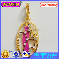 Hollow Beauty lady Neckalce Pendant Gold Charm For Necklace #14889