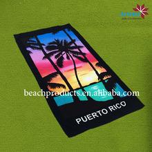 proveedor China proporciona las toallas impresos toalla de playa