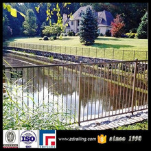 two-rail pond side safety barrier fence, used aluminum fence, cast aluminum fence