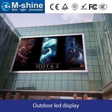 High waterproof P10 DIP 1R1G1B full color outdoor led advertising distal display board