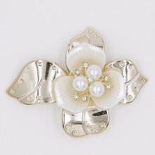 2015 wedding decoration rhinestone 72mm pearl acrylic flower hair product P02856