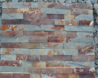 Brown Slate Stone Rusty Cultured Stone,Natural Surface for Wall Decoration,