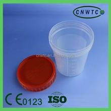 Lab plastic 120ml urine bottle