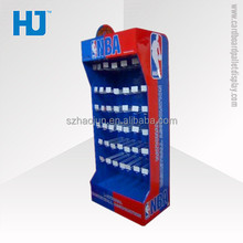 Retail with plastic hooks NBA cardboard basketball display stand