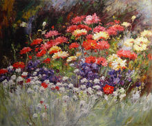 Colorful natural flowers blooming pictures canvas painting