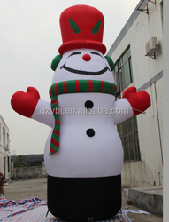 2015 guangzhou inflatable christmas cartoon, inflatable Snowman for advertising