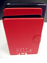 Red+White silicone keyboard protective cover case for Tablet PC with detachable hooks