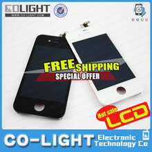 2015 Free Ship OEM& Factory Price!! Mobile Phone Parts/for iPhone 4 Parts/Accessories for iPhone 4g lcd with 12 months guarantee