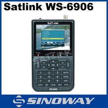 "in stock ! 3.5"" DVB-S2 satlink ws-6906 digital satellite finder meter made in china satellite meter wirh auto scan bland scan"