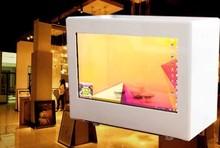energy-saving front 80% transparent monitor transparent lcd