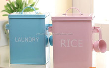 Holiday Promotion for Pet Items Enamel Spoon side handle Pet Food Container/Metal Storage Canister/Cat/Dog Food Cabinet