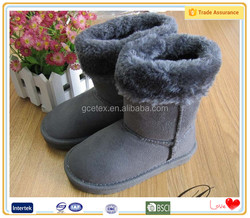 2016 Fashion grey durable winter boots shoes
